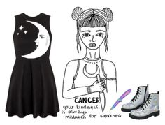 """Cancer"" by loxftniall ❤ liked on Polyvore featuring beauty and T.U.K."