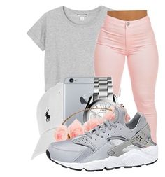 """""""Untitled #358"""" by kenziesg ❤ liked on Polyvore featuring мода, Monki, Polo Ralph Lauren, Michael Kors и NIKE"""