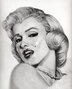 The lovely Marilyn Monroe. (Risa Jenner, 2012)  #drawing