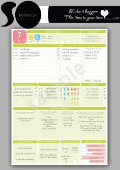Daily planner Letter size Printabl planner by BorbolloPlanners