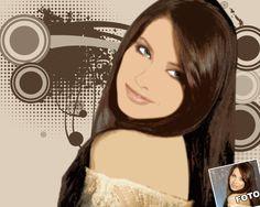 Porträtzeichnung vom Foto im Pop-Art-Stil