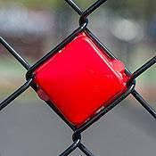 The Red Put-In Cups Fence Decorations are perfect to spell out a spirited message. Each Red Fence Cup measures 3 inches square x 1 inch deep. Fence Doors, Rail Fence, Dog Fence, Fence Landscaping, Backyard Fences, Yard Fencing, Garden Fence Art, Cedar Fence, Wooden Fence