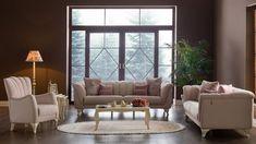Doğal Renklerle Oturma Odası Koltuk Takımları Luxury Sofa, Furniture Design