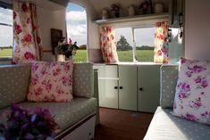 Vintage caravan interior!
