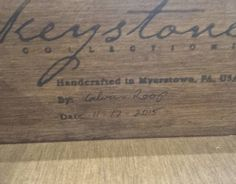 #KeystoneCollections artisans sign and date their furniture once it's complete as a symbol that they stand behind their work. This week only all Keystone Collections #furniture from #DutchCrafters is 10% off. #AmishFurniture #nationalhandwritingday #solidwoodfurniture