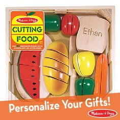 Customized food play; now part of our new Personalization line on Melissa & Doug!