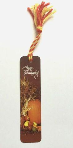 Vintage Antioch Bookmark Happy Thanksgiving Fall Harvest 1976 Pumpkins #Antioch Vintage Bookmarks, Peachtree City, Fall Harvest, Happy Thanksgiving, Pumpkins, Christmas Ornaments, Holiday Decor, Wedding, Ebay