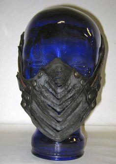 mask, muzzle, leather, dust, burning man, fetish. $198.00, via Etsy.
