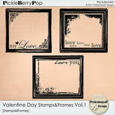 Valentine day Stamps&Frames Vol.1 by PrelestnayaP Design