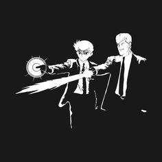 Charge up that Spirit Gun!  check out more on -  www.pinterest.com/manoystee/manoystee-teepublic/ Pulp Fiction x Yu Yu Hakusho #teepublic #tee #shirt #tshirt #manoystee #anime #yuyuhakusho #yusuke #kuwabara #mashup #pulpfiction