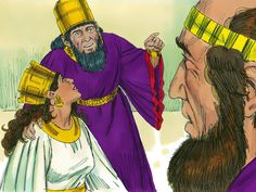 'As Haman threatened the Jews I have impaled him on the pole he set up and given his estate to Esther,' the King replied. 'Write another decree in my name and sealed with my signet ring. No document written in my name can be changed.' – Slide 8