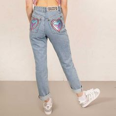 The Ragged Priest Tail End Mom dames spijkerbroek jeans met hoge taill