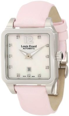 Louis Erard Women`s 20700AA14.BDS60 Emotion Square Automatic Mother of Pearl Diamond Watch $1,237.50