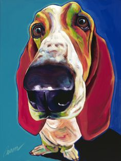 """Madeline"" by Ron Burns   #art #popart #animalart #dogs"