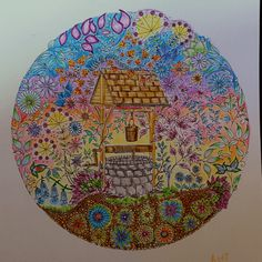 Wishing Well I Did From The Secret Garden Book Take A Peek At This Great Artwork On Johanna Basfords Colouring Gallery