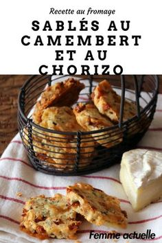 Camembert and chorizo ​​shortbread: discover the cooking recipes of Femme Actuelle Le MAG - Discover our recipe for shortbread with camembert and chorizo. Chorizo, Tapas, Shortbread Recipes, Snacks, Coffee Recipes, Food Inspiration, Breakfast Recipes, Food Porn, Easy Meals