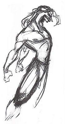 """Concept art of Tarzan roaring from Disney's """"Tarzan"""" (1999)."""