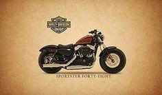 Harley Davidson Framed Prints - Harley Davidson Sportster 48 Framed Print by Mark Rogan