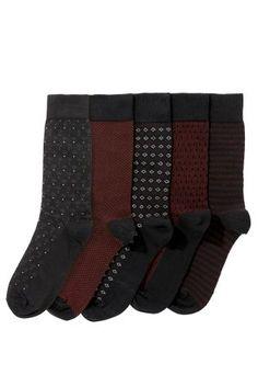 Next Burgundy Formal Mix Socks Five Pack