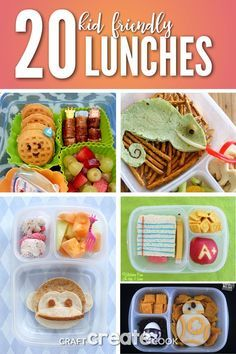 These 20 kid friendly bento lunch ideas are perfect for back to school! via @CraftCreatCook1