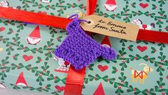 Mini Knitted Christmas Gift Tag Toppers - Free Tutorial Videos! • LoveKnitting Blog