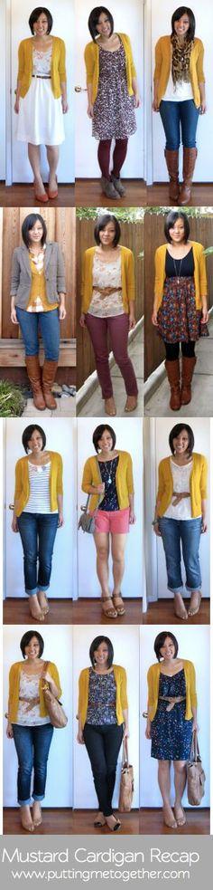 Recap: Mustard Cardigan | #PuttingMeTogether #Fashion #FashionAdvice