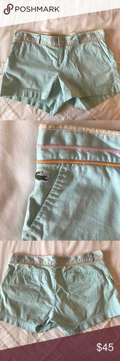 Blue Lacoste shorts.  Size 42. Baby blue Lacoste shorts.  Size 42 (medium).  Perfect condition. Lacoste Shorts