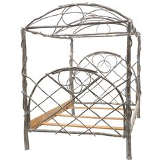 Whimsical Canopy Cottage Twig Bedframe