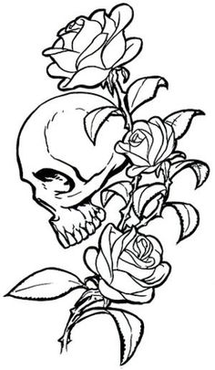 Do you want to examine about beautiful skull rose tattoos? Learn more about different the greatest kind of skull rose tattoo designs. It might surprise you that skulls roses tattoos have been becoming popular amongst guys folks. Skull Rose Tattoos, Vine Tattoos, Black Rose Tattoos, Tribal Tattoos, Sleeve Tattoos, Tattoo Sugar Skulls, Dead Rose Tattoo, Pretty Skull Tattoos, Skull Thigh Tattoos