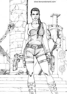 tomb raider by fernandomerlodeviantartcom on deviantart - Lara Croft Coloring Pages