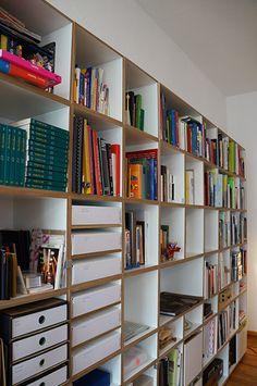 Bücherregal Detailansicht