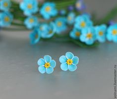 Polymer clay Forget me not jewelry - FImo DIY, polymer clay tutorials Polymer c. Polymer clay Forget me not jewelry – FImo DIY, polymer clay tutorials Polymer clay Forget me not Diy Fimo, Cute Polymer Clay, Polymer Clay Miniatures, Polymer Clay Flowers, Polymer Clay Projects, Polymer Clay Charms, Polymer Clay Creations, Polymer Clay Jewelry, Clay Crafts
