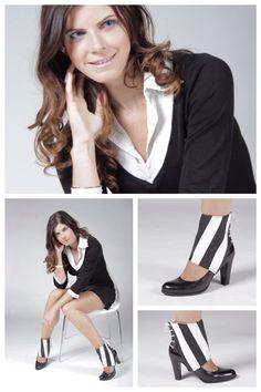 maak van je zwarte pumps zwart/witte enkellaarsjes met de BW Stripes Molinis. Looks on the street guaranteed ;) #fashion #musthave