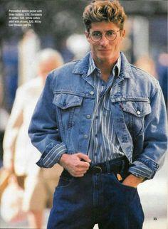 1980s Mens Fashion, 80s And 90s Fashion, Retro Fashion, 80s Style Outfits, Retro Outfits, Fashion Outfits, 80s Style Men, Men's Fashion, Look 80s