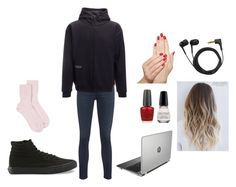 """""""basically my outfit rn"""" by xoverratedxvansx ❤ liked on Polyvore featuring Vans, Johnstons of Elgin, AG Adriano Goldschmied, OPI, Jockey, Piggy Paint, Sennheiser and Arborwear"""