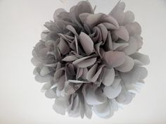 Perfect gray tissue pompom.