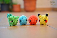 Pokemon starters by MissBajoCollection.deviantart.com on @DeviantArt