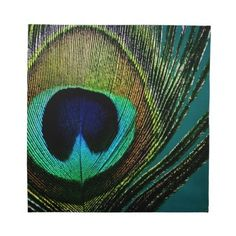 Exotic Peacock Feather Chic Photography Napkin by color_therapy