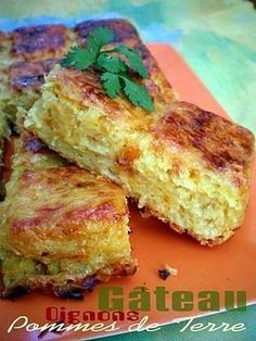 Gâteau de pommes de terre aux oignons