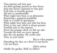Burnt Norton by T.S. Eliot