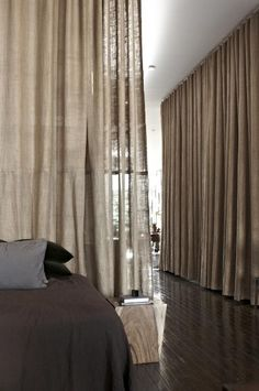 burlap curtains -- scott newkirk by lindsey