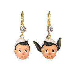 Boucles d'oreilles Marionnette de Bois