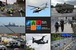 Some of the military equipment assembled in South Wales ahead of the Nato summit