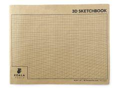 2-point Perspective 3D Grid Sketchbook