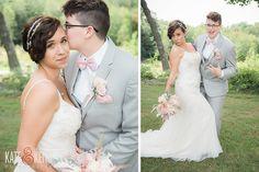 Same Sex Wedding at Monadnock Berry Farm | Blush Pink