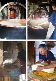 Schweizer Käseherstellung Schritt für Schritt