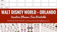 Walt Disney World + Orlando Vacation Planner v2.0 | Free Printable
