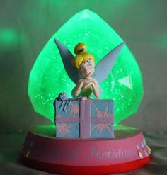 "Disney Tinkerbell Magical Holiday Present Light Up Figurine 6"" Peter Pan #Disney"