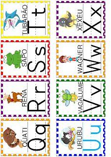 MATERIAL EM PDF - MAIS DE 100 PÁGINAS EM ATIVIDADES PARA ALFABETIZAÇÃO - Alfabetizar com AMOR English Worksheets For Kids, Alphabet, Pokemon, Banner, Classroom, Kids Rugs, Letters, School, Toddler Learning Activities