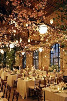Garden theamed reception idea